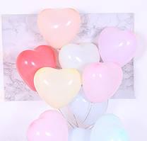 """Воздушные шары сердца макарун ассорти 8"""" (20 см) Китай"""