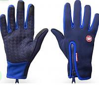 Перчатки windstoper freever женские электрик, черные