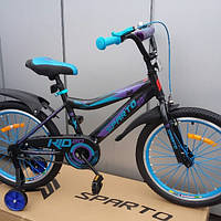 Велосипед 20 Sparto JET  алюминий черно-бирюзовый