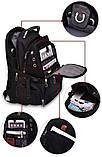 Вместительный рюкзак SwissGear Wenger, свисгир. Черный. + Дождевик. 35L / s8810-3 black, фото 8