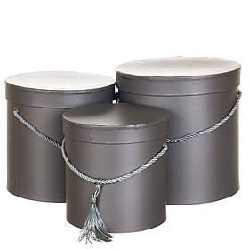 """Набор из 3-х шляпных коробок """"Металлик"""" (8131-016)"""