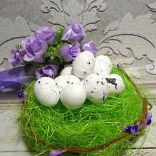 Яйцо перепелиное, 2 х 1,5 см, пенопласт, цвет белый, 5 шт.