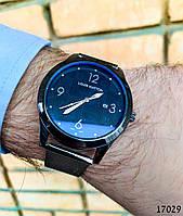Часы мужские в стиле Louis Vuitton. Мужские наручные часы черные. Часы с черным циферблатом Годинник чоловічий