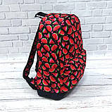 Яркий, стильный рюкзак с принтом Арбуз. Для путешествий, тренировок, учебы.  Рюкзак достаточно вместительный., фото 5