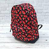 Яркий, стильный рюкзак с принтом Арбуз. Для путешествий, тренировок, учебы.  Рюкзак достаточно вместительный., фото 9