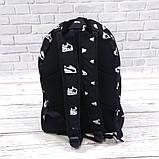 Яркий, стильный рюкзак с принтом кроссовок Nike. Для путешествий, тренировок, учебы, фото 4