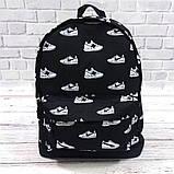 Яркий, стильный рюкзак с принтом кроссовок Nike. Для путешествий, тренировок, учебы, фото 5