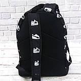 Яркий, стильный рюкзак с принтом кроссовок Nike. Для путешествий, тренировок, учебы, фото 6