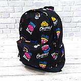 Стильный рюкзак с принтом Fresh Brains. Для путешествий, тренировок, учебы, фото 5