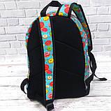 Хит! Стильный рюкзак с принтом Пончики. Для путешествий, тренировок, учебы, фото 4