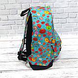 Хит! Стильный рюкзак с принтом Пончики. Для путешествий, тренировок, учебы, фото 5