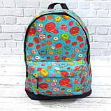 Хит! Стильный рюкзак с принтом Пончики. Для путешествий, тренировок, учебы, фото 8