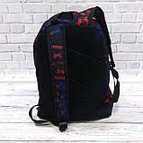 Молодежный рюкзак с принтом Суприм, Supreme. Для путешествий, тренировок, учебы, фото 5