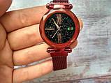 Стильные женские часы Starry Sky Watch. Красные. Скай воч., фото 4