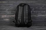 Городской повседневный кожаный рюкзак Tommy Hilfiger, томи. Черный, фото 2