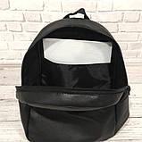 Городской повседневный кожаный рюкзак Tommy Hilfiger, томи. Черный, фото 3