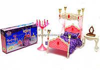 Детская игрушечная мебель Глория Gloria для кукол Барби Спальня 1214. Обустройте кукольный домик