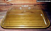 Поднос бамбуковый прямоугольный с крышкой Helios 40х30 см (7311)