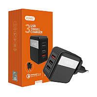 Сетевой адаптер Quigk Charge 3.0,на 3 порта usb,Vidvie PLE205Q