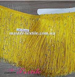 Бахрома с пайетками 20 см (жёлтая)