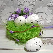 Яйцо перепелиное, 34 х 24 см, пенопласт, цвет белый, 2 шт.
