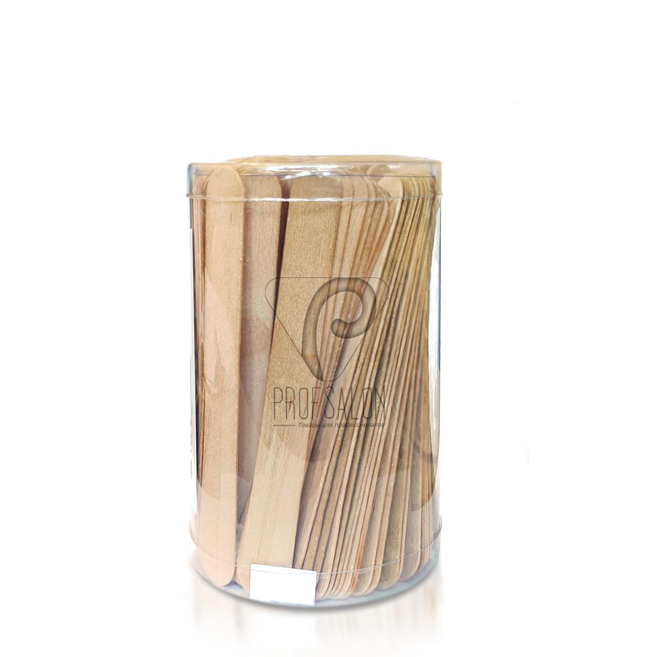 Одноразовые шпатели для депиляции, деревяные, 150 шт, в тубусе