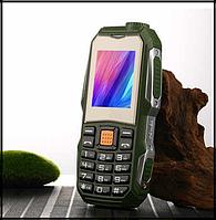 Защищенный Мобильный телефон Lend Rover F88 зелёный  Аккумулятор 3800mA! Водоустойчив, удароустойчивый, фото 1