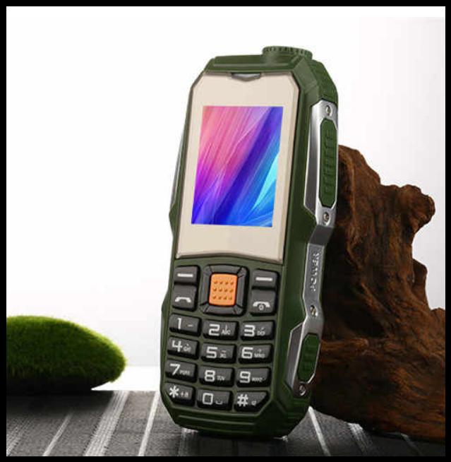 Защищенный Мобильный телефон Lend Rover F88 зелёный  Аккумулятор 3800mA! Водоустойчив, удароустойчивый