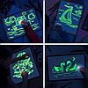 Набор для творчества Рисуй светом А4 (30х21 см) двухсторонний планшет ТМ Люмик, фото 3