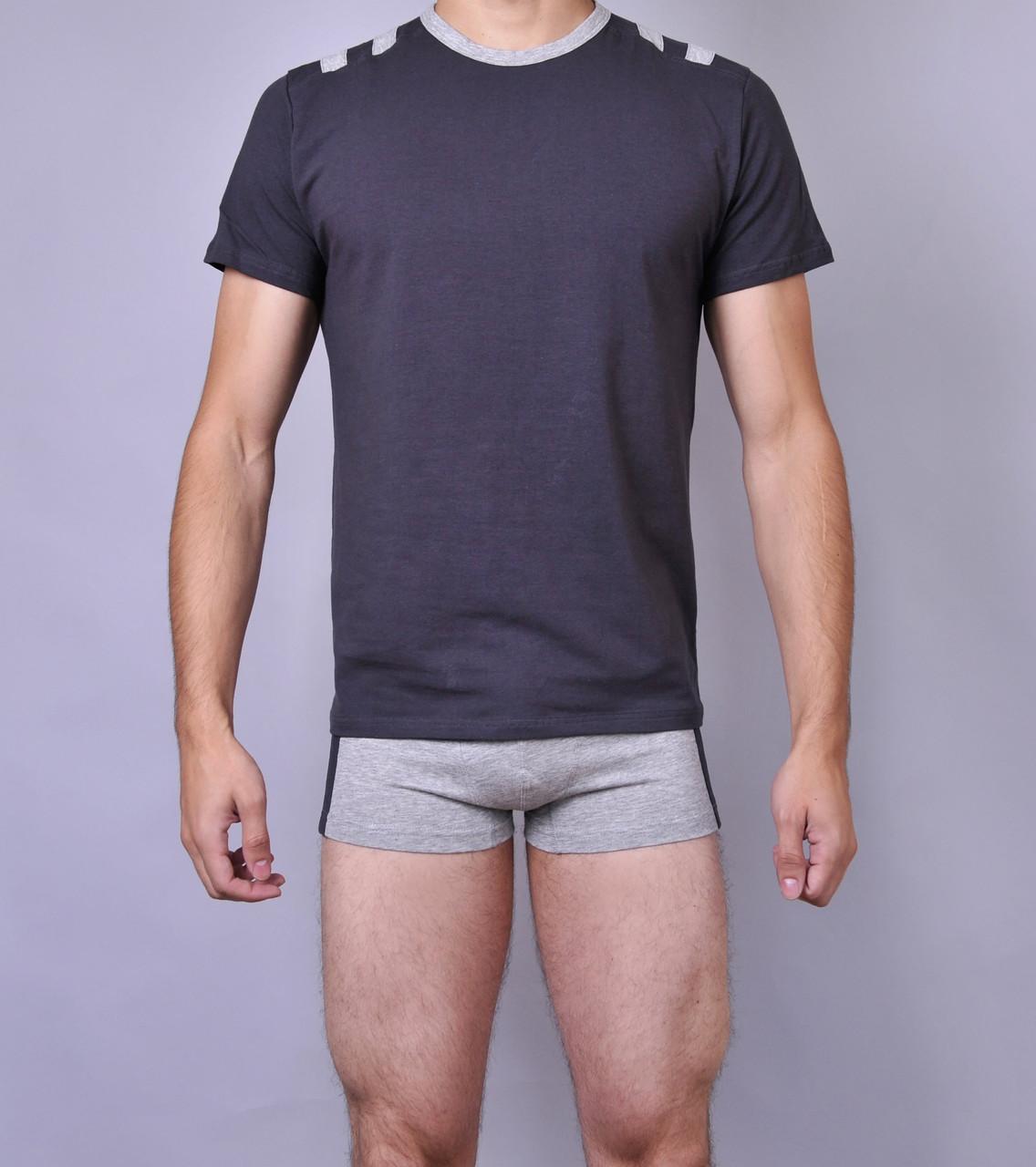 Мужская футболка  C+3 0110 M Темно серый