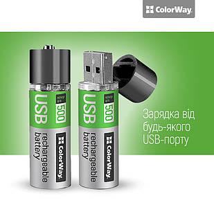 Аккумуляторная батарея 18650 USB 1200 мАЧ 3.7В (2шт) ColorWay