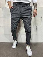 Мужские брюки серые А-P1067