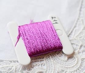 Мулине имитация шелка, 4м, 6 сложений, сиренево-розовый