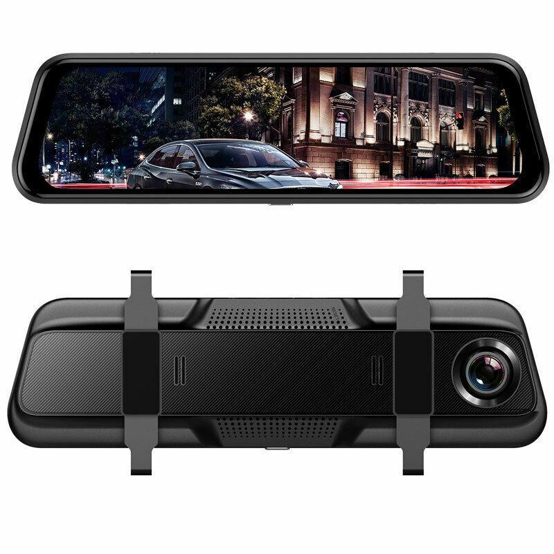 """Відеореєстратор дзеркало Anytek T12+ Екран 9,66"""" 2 камери"""