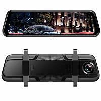 """Видеорегистратор зеркало Anytek T12+ Экран 9,66"""" 2 камеры"""