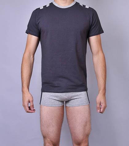 Мужская футболка  C+3 0110 XXL Темно серый, фото 2