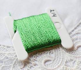 Мулине имитация шелка, 4м, 6 сложений, весенняя зелень