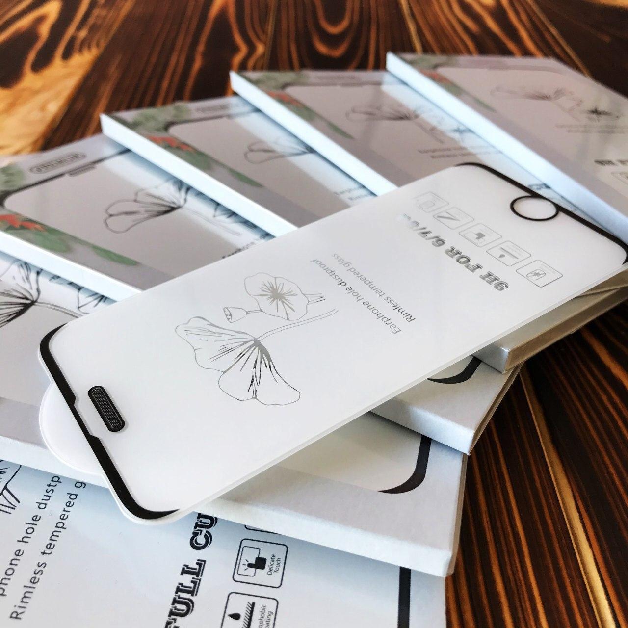 Защитное стекло Rimless glass dustproof для iPhone 6Plus/7Plus/8Plus черное