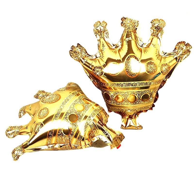 """Фольгированный мини шар """"Корона золотая"""" 29х30 см 1621"""