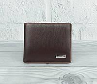 Портмоне, кошелек мужской кожаный Prensiti 10-8731 коричневый, без застежки, фото 1
