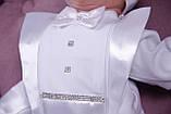 Нарядный комплект для новорожденного мальчика Фрак New белый, фото 7