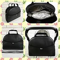 Универсальная сумка для коляски Эко кожа с ручкой Zdrowe dziecko New Черный жемчуг Польша