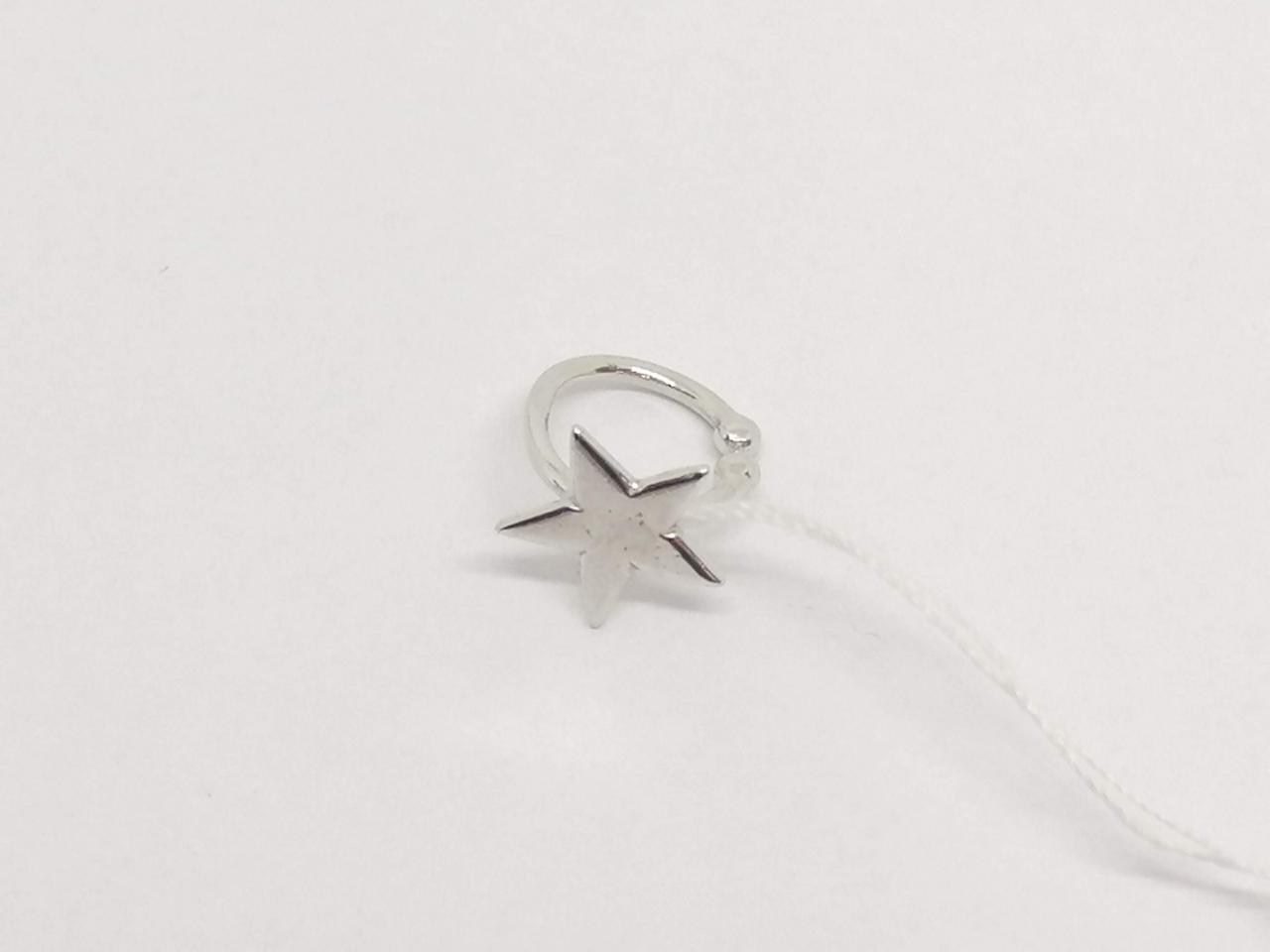 Серебряная серьга-кафф на хеликс. Артикул 3522417400Б