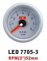 Тахометр 7705-3 LED стрелочный диаметр 52мм, фото 1