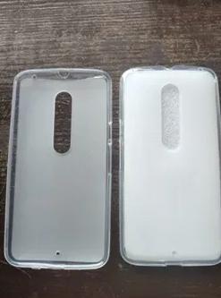 Силиконовый чехол для Motorola Moto X белый прозрачный