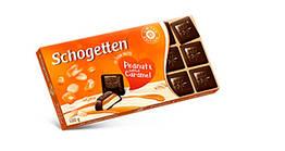Черный шоколад Шогеттен Peanut and Salted Caramel с арахисом и соленой карамелью 100 грамм