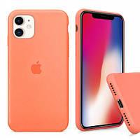 Силиконовый Чехол на iPhone 11 папая Silicone Case papaya ( чехол айфон 11 )