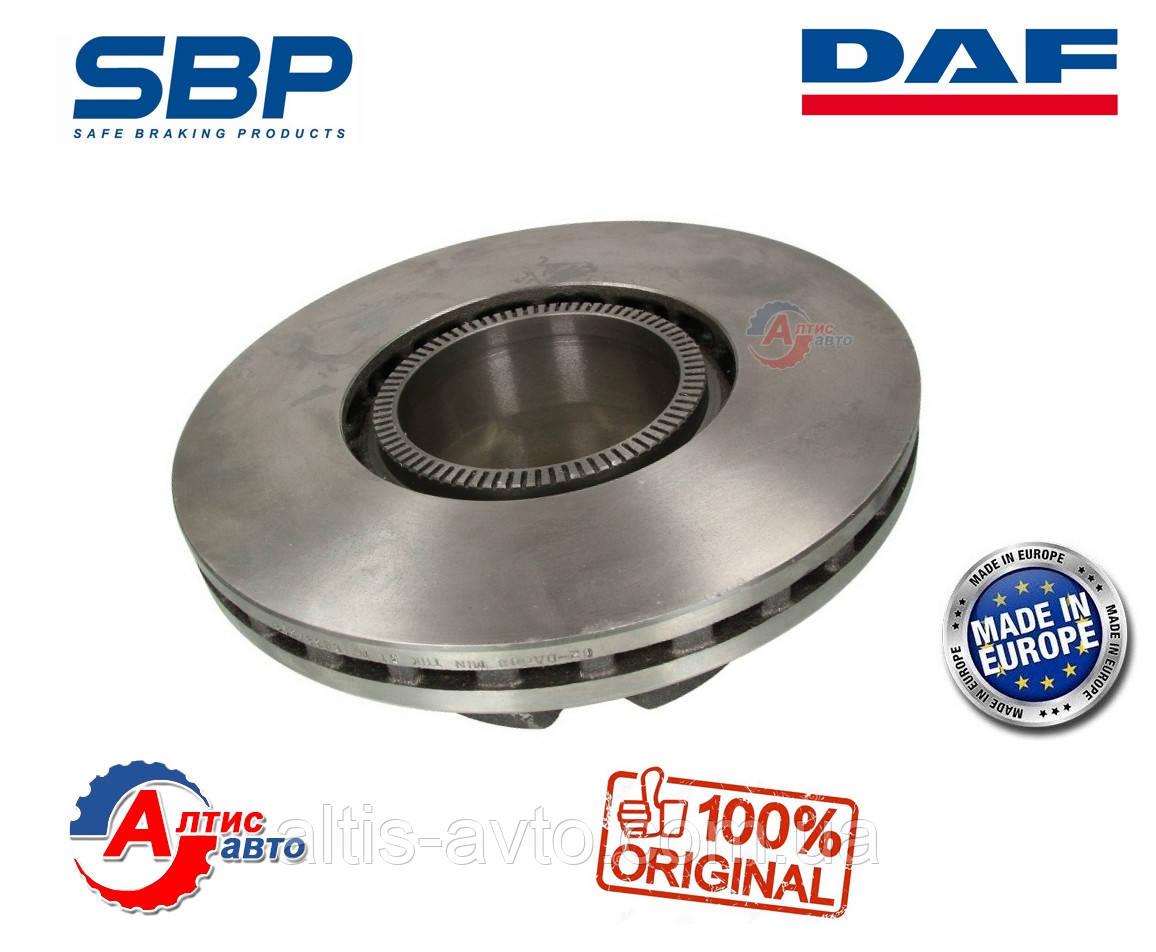 Задний тормозной диск DAF LF 45 для грузовиков 1400273, 1408672, 1407581, 1408254, 12 шпилек