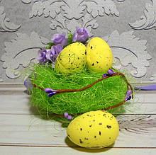 Яйцо перепелиное, 34 х 24 см, пенопласт, цвет желтый, 3 шт.