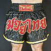 """Шорты для тайского бокса """"BLACK-YELLOW"""", фото 2"""